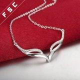 Silber überzog Form-Entwurfs-fördernde Halskette für Mädchen