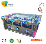 La máquina accesoria del juego del pulsador de la palanca de mando de la arcada de la ranura de los pescados funciona con la moneda