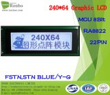240X64 het grafische LCD Scherm, MCU met 8 bits, Ra8822, 22pin, de Vertoning van Stn LCD van de MAÏSKOLF