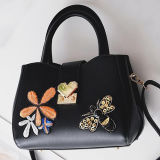 Neue fantastische populäre weibliche Handtaschen gestickter Blumen-und Bienen-Dame-Schulter-Beutel von den China-Lieferanten Sy8502