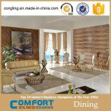 Goldene Serien-Glasmitteltisch-Möbel des Entwurfs-C9002