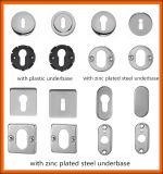 Poignée de porte en acier inoxydable gros levier interne avec base en acier