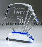 Troféu por atacado da concessão da forma do livro do cristal da fábrica