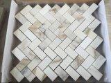 Mosaico de mármore branco de pedra natural, folheado do mosaico
