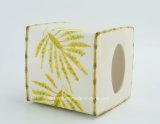 Acessório cerâmico do banheiro da pintura tropical da mão do decalque da palma
