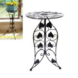 Black Metal Ground Decoration Linellae Flowerpot Rack Craft for Home