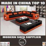 部門別の革ソファー居間のための木製フレームの家具