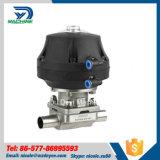 Dn65 soupape à diaphragme d'actionneur pneumatique de l'acier inoxydable Ss316L Aspetic