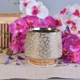24 supporti di candela di ceramica lussuosi elettrolitici dell'oro dell'oncia con la decorazione del fiore