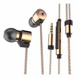 HDのスマートな電話のためのハイファイイヤホーンのヘッドホーンの極度の低音のステレオのヘッドセットを隔離する耳の金によってめっきされる騒音のオリジナル3.5mm