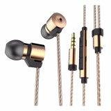 Original 3.5mm no ruído chapeado ouro da orelha que isola dos auscultadores de alta fidelidade do fone de ouvido de HD auriculares estereofónicos baixos super para o telefone esperto