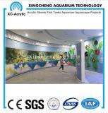 Precio material de acrílico modificado para requisitos particulares del proyecto del tanque del tiburón de la hoja del acuario