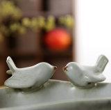 Succulents плантатора цветочного горшка гончарни птицы покрашенные раковиной керамические