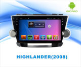 Android System Car DVD GPS Player para Highlander tela de toque de 9 polegadas com Bluetooth / MP4