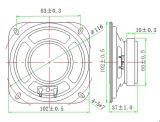 диктор 102mm водоустойчивый громкоговоритель Dxyd102W-60f-8A-F 4 дюймов микро-