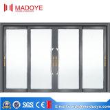 Portas deslizantes de alumínio resistentes do bom preço com quatro vidros