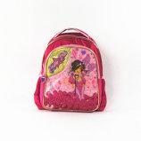 La ragazza attraente Shinny il sacchetto dei bambini del capretto dell'allievo del banco del tessuto