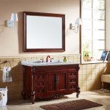 Module rustique de vanité de double de meubles de salle de bains de type (GSP14-041)