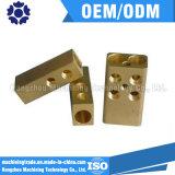 Bronze/peças fazendo à máquina de cobre do CNC que lustram o tratamento de superfície
