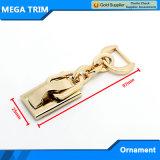 Accesorios ligeros del hardware del bolso del encadenamiento del metal del oro