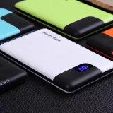 Samrtphone 모든 장치를 위한 휴대용 PU 짜임새 6000mAh USB 힘 은행