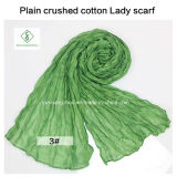 2017 Hot Sale Soft Cotton Plain Broy Fashion Lady Scarf