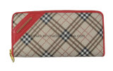 (Th7008) Il raccoglitore di cuoio Checkered delle donne dell'unità di elaborazione/il più in ritardo progetta la signora Purse
