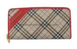 Бумажник женщин PU brandnew способа Checkered кожаный (TH7008)