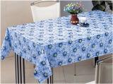 PVC材料によって印刷されるデザイン透過テーブルクロス(TJ0054)の工場卸売