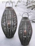Unico antico di modo con la maniglia delle lanterne di bambù speciali