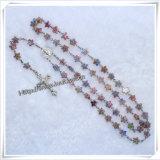 밝은 색깔 카톨릭교 묵주, 구슬 로즈 아름다운 묵주, 카톨릭교 그리스도 수난상 (IO cr373)