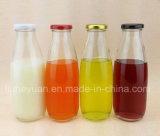 Latte fresco, yogurt, bottiglie di vetro trasparenti 100ml della bevanda--1000ml