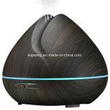 Humidificador fresco ultra-sônico de madeira preto da névoa da grão 400ml