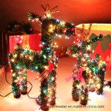 Cervi verdi di natale del PVC con l'indicatore luminoso del LED per la decorazione di festa