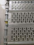 Planche en acier galvanisée d'échafaudage avec le crochet