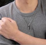 O pendente do quadrado da forma da jóia projeta o pendente do encanto do aço inoxidável dos homens