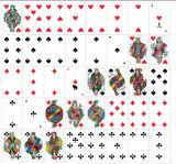 40 tarjetas que hacen publicidad de las tarjetas que juegan de papel modificadas para requisitos particulares para Libia