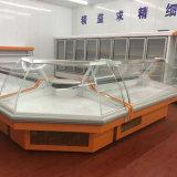 大きい容量デザイン小売店開いた肉ショーケース冷却装置