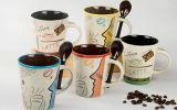 Tasses en céramique de la forme 12oz différente en gros pour la promotion