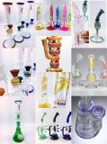 Microscope Shape Smoke Glass Water Pipe avec Rocket Perc