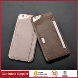 Случай бумажника качества кожаный с гнездом для платы для iPhone