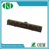 Potentiomètre mono A10k de glissière de course de l'usine 45mm avec l'arbre Wh4511 en métal