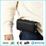 Горизонтальный случай телефона бумажника кобуры зажима кожаный пояса