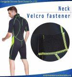 人のネオプレンの背部ジッパーの不足分の袖のサーフのウェットスーツ
