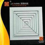 고품질 환기 시스템에 있는 알루미늄 4 방법 사각 공기 유포자