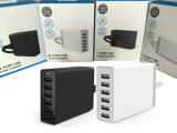 Parede BRITÂNICA do carregador 60W 5V/12A do telefone do carregador 5V 2A do USB de Byunite que cobra o carregador esperto universal do USB de Poweriq para o iPhone 7 Powerport 6