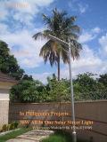 A segurança 2017 ao ar livre psta solar brilhante da lâmpada da cerca da calha da montagem da parede do trajeto do pátio do jardim da luz do sensor de movimento do diodo emissor de luz ilumina completo (movimento de PIR + a luz não ofuscante)