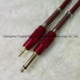 6.35 Monostecker zu 3.5 Stereolithographie-Mikrofon-Link/zur Gitarre/zum Musik-Instrument-Kabel