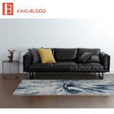 لون رماديّة حديثة جلد أريكة لأنّ يعيش غرفة أثاث لازم