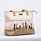 소녀를 위한 2017년 고양이 패턴 형식 어깨에 매는 가방